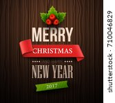 christmas background. vector... | Shutterstock .eps vector #710046829