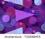 memphis seamless pattern.... | Shutterstock .eps vector #710048455