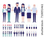 vector people for animation.... | Shutterstock .eps vector #710051461