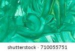 turquoise green wavy daub with... | Shutterstock . vector #710055751