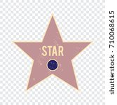 hollywood walk of fame famous | Shutterstock .eps vector #710068615