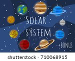 solar system planets | Shutterstock .eps vector #710068915