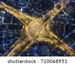 road traffic in city at... | Shutterstock . vector #710068951