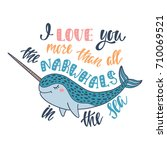 i love you more than all the... | Shutterstock .eps vector #710069521