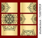 ornament round set with mandala.... | Shutterstock . vector #710070919