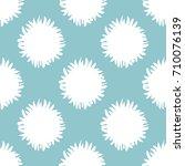 seamless pattern. fluffy tail... | Shutterstock .eps vector #710076139