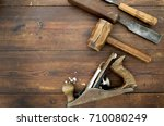 Woodwork Tools On Table  Flat...