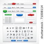 web elements pack   Shutterstock .eps vector #71008114