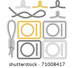rope frames  four styles   Shutterstock .eps vector #71008417