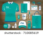network sport gift items  color ... | Shutterstock .eps vector #710085619