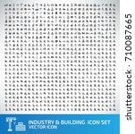 industry and building icon set... | Shutterstock .eps vector #710087665