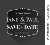 save the date wedding... | Shutterstock .eps vector #710091541