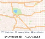 abstract city plan. generic... | Shutterstock .eps vector #710093665