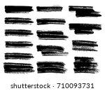 painted grunge stripes set....   Shutterstock .eps vector #710093731