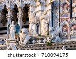 sculptures on the facade of...   Shutterstock . vector #710094175