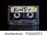 road trip mixed tape | Shutterstock . vector #710102371