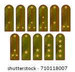 military shoulder straps on a... | Shutterstock .eps vector #710118007