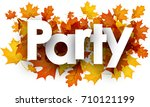 party autumn background with... | Shutterstock .eps vector #710121199