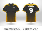 black and yellow layout... | Shutterstock .eps vector #710121997
