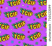 seamless pattern with patches ... | Shutterstock .eps vector #710122099