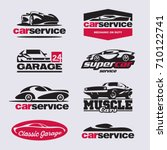 car logo  car service labels ... | Shutterstock .eps vector #710122741