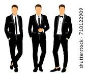 wedding men's suit and tuxedo.... | Shutterstock .eps vector #710122909