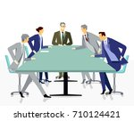 meeting and discussion with... | Shutterstock . vector #710124421