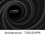 abstract vector illustration.... | Shutterstock .eps vector #710131999