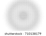 halftone pattern with black dot ... | Shutterstock .eps vector #710138179