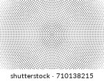 halftone pattern with black dot ... | Shutterstock .eps vector #710138215