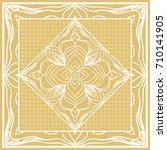 template print for sofa square...   Shutterstock . vector #710141905