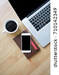 laptop with modern smart phone  ... | Shutterstock . vector #710142349