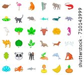 live icons set. cartoon style... | Shutterstock .eps vector #710143999