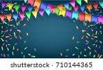 vector background with festive... | Shutterstock .eps vector #710144365