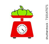 kitchen scale vector icon on...   Shutterstock .eps vector #710147071