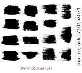 grungy brush strokes set over... | Shutterstock .eps vector #710153071