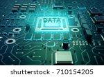 data concept  circuit board... | Shutterstock . vector #710154205