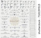 mega kit of vintage elements... | Shutterstock .eps vector #710159515