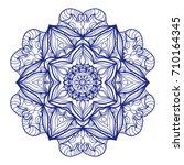 ethnic mandala. mehndi style...   Shutterstock . vector #710164345