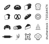 vector of bakery bread icons | Shutterstock .eps vector #710164474