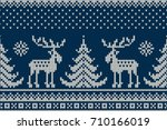 Winter Holiday Seamless Knitte...
