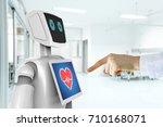 robotic advisor service... | Shutterstock . vector #710168071