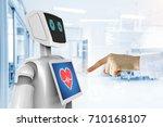robotic advisor service... | Shutterstock . vector #710168107