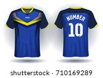 soccer jersey template. mock up ...