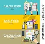 tax calculation  budget...   Shutterstock .eps vector #710169379