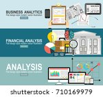 analytics information and... | Shutterstock .eps vector #710169979