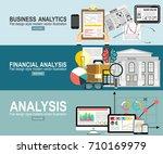 analytics information and... | Shutterstock .eps vector #710169979