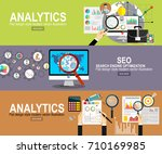 analytics information and... | Shutterstock .eps vector #710169985