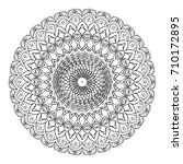 floral mandala decorative... | Shutterstock . vector #710172895
