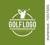golf logo design template   Shutterstock .eps vector #710173201
